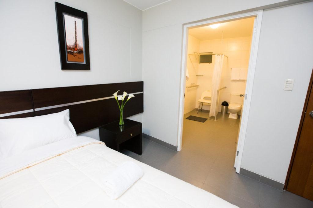 Habitación doble del hotel Mariategui